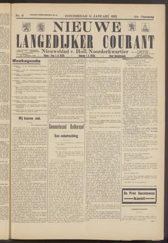 Nieuwe Langedijker Courant 1932-01-14