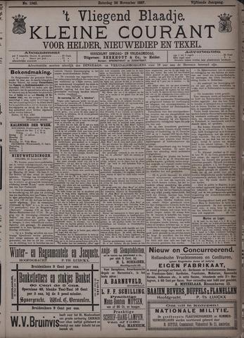 Vliegend blaadje : nieuws- en advertentiebode voor Den Helder 1887-11-26