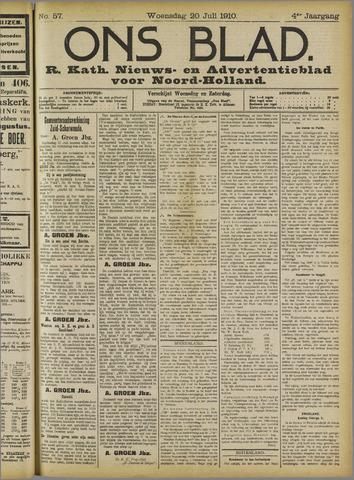 Ons Blad : katholiek nieuwsblad voor N-H 1910-07-20