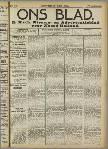 Ons Blad : katholiek nieuwsblad voor N-H 1913-05-26