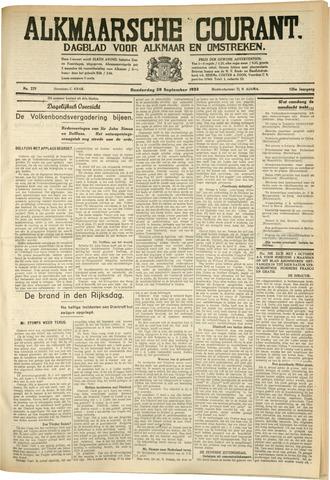Alkmaarsche Courant 1933-09-28