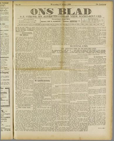 Ons Blad : katholiek nieuwsblad voor N-H 1920-03-17