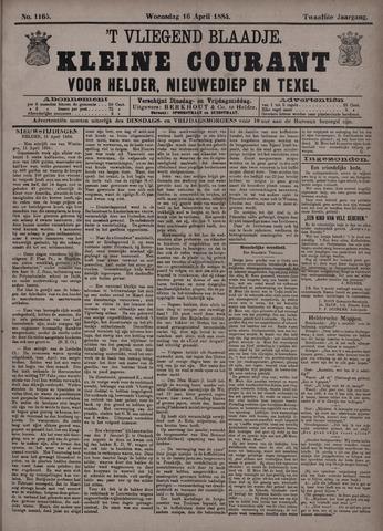 Vliegend blaadje : nieuws- en advertentiebode voor Den Helder 1884-04-16