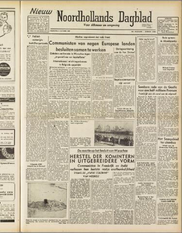 Nieuw Noordhollandsch Dagblad : voor Alkmaar en omgeving 1947-10-06