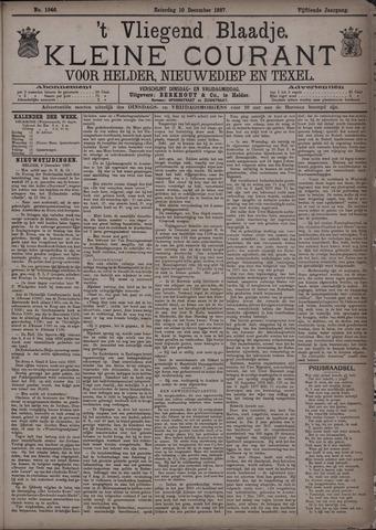 Vliegend blaadje : nieuws- en advertentiebode voor Den Helder 1887-12-10