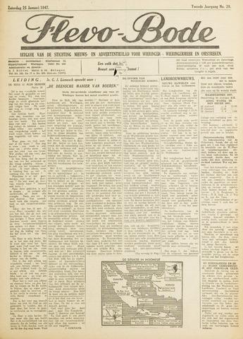 Flevo-bode: nieuwsblad voor Wieringen-Wieringermeer 1947-01-25