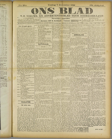 Ons Blad : katholiek nieuwsblad voor N-H 1919-11-07
