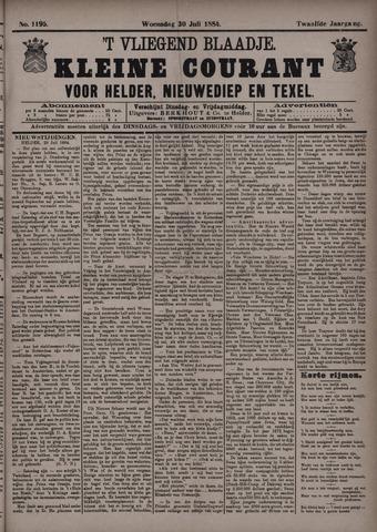 Vliegend blaadje : nieuws- en advertentiebode voor Den Helder 1884-07-30