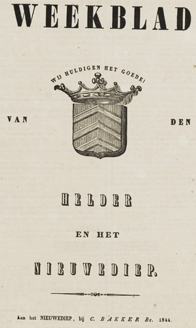 Weekblad van Den Helder en het Nieuwediep 1844-01-01