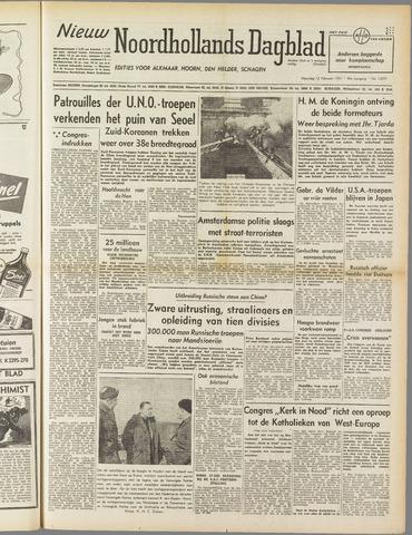 Nieuw Noordhollandsch Dagblad : voor Alkmaar en omgeving 1951-02-12