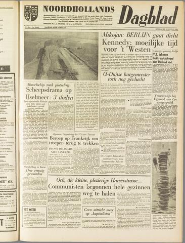 Noordhollands Dagblad : dagblad voor Alkmaar en omgeving 1961-08-22