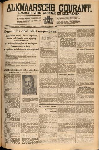 Alkmaarsche Courant 1939-09-21