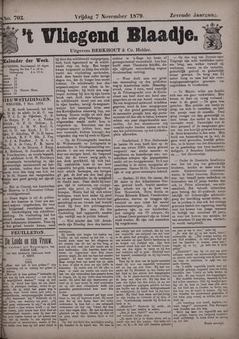Vliegend blaadje : nieuws- en advertentiebode voor Den Helder 1879-11-07