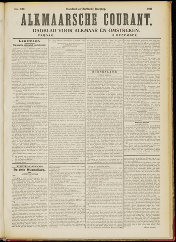 Alkmaarsche Courant 1911-12-08