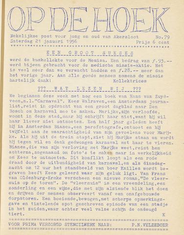 Op De Hoek, weekblad voor Akersloot 1956-01-21
