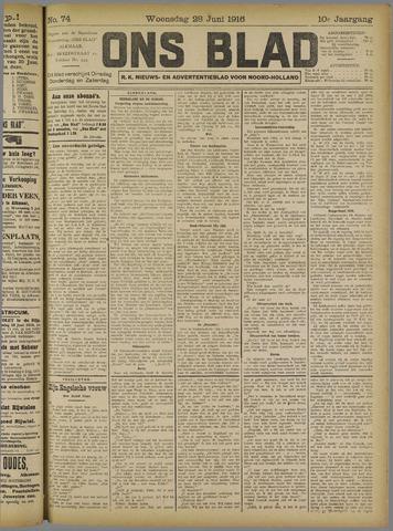 Ons Blad : katholiek nieuwsblad voor N-H 1916-06-28