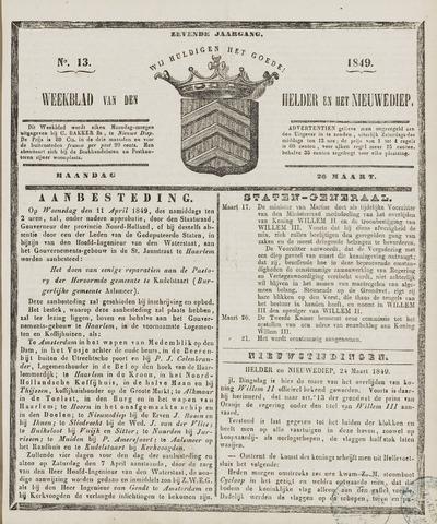 Weekblad van Den Helder en het Nieuwediep 1849-03-26
