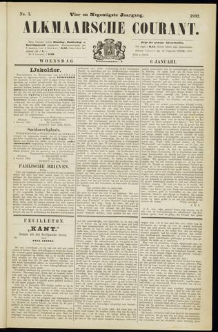 Alkmaarsche Courant 1892-01-06
