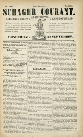 Schager Courant 1881-09-22