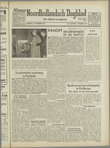 Nieuw Noordhollandsch Dagblad : voor Alkmaar en omgeving 1946-11-11