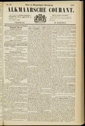 Alkmaarsche Courant 1892-08-19