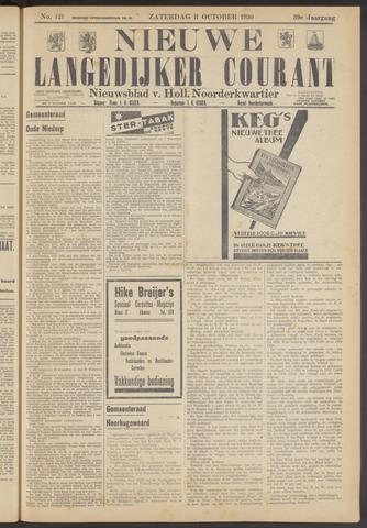 Nieuwe Langedijker Courant 1930-10-11