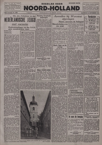 Dagblad Noord-Holland, Schager editie 1942-09-19