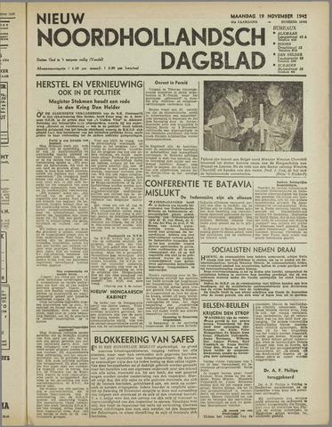 Nieuw Noordhollandsch Dagblad : voor Alkmaar en omgeving 1945-11-19