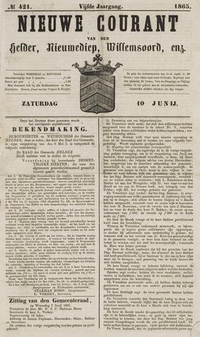 Nieuwe Courant van Den Helder 1865-06-10