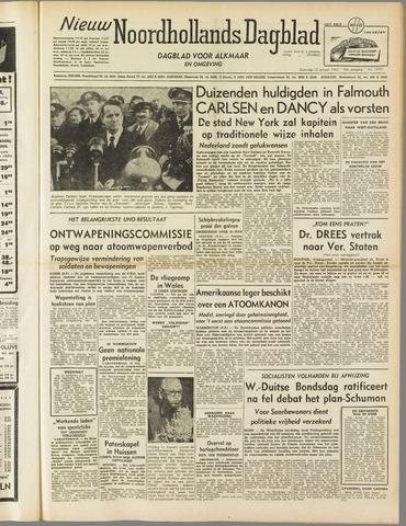 Nieuw Noordhollandsch Dagblad : voor Alkmaar en omgeving 1952-01-12