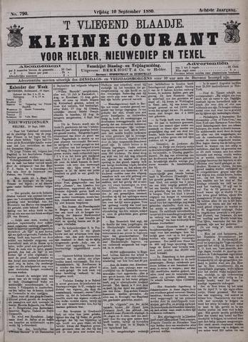 Vliegend blaadje : nieuws- en advertentiebode voor Den Helder 1880-09-10