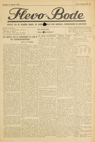 Flevo-bode: nieuwsblad voor Wieringen-Wieringermeer 1946-01-19