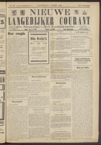 Nieuwe Langedijker Courant 1933-04-01