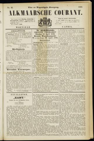 Alkmaarsche Courant 1892-04-06