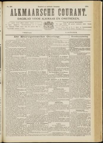 Alkmaarsche Courant 1914-10-09