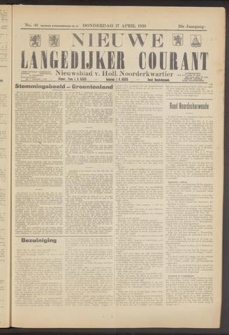 Nieuwe Langedijker Courant 1930-04-17