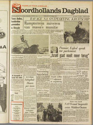 Noordhollands Dagblad : dagblad voor Alkmaar en omgeving 1967-06-13
