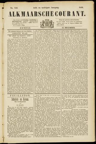 Alkmaarsche Courant 1886-12-12