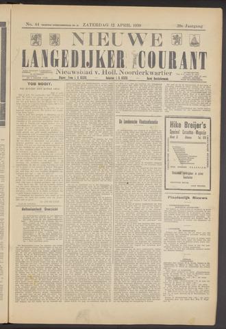 Nieuwe Langedijker Courant 1930-04-12