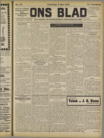 Ons Blad : katholiek nieuwsblad voor N-H 1916-05-06