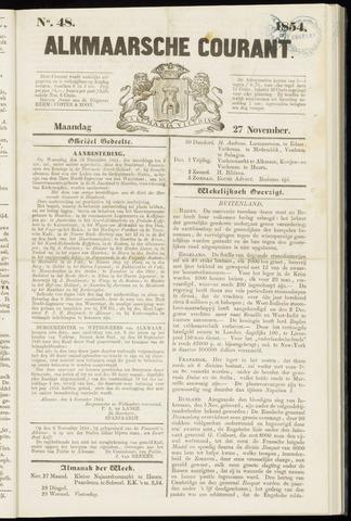 Alkmaarsche Courant 1854-11-27