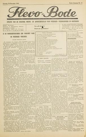 Flevo-bode: nieuwsblad voor Wieringen-Wieringermeer 1945-12-29