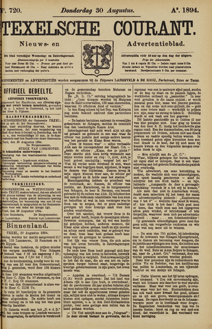 Texelsche Courant 1894-08-30
