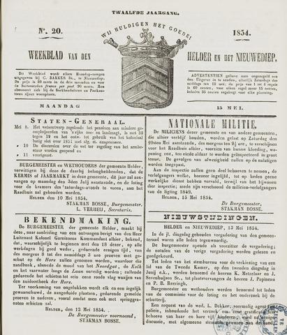 Weekblad van Den Helder en het Nieuwediep 1854-05-15