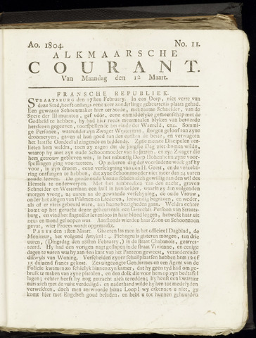 Alkmaarsche Courant 1804-03-12