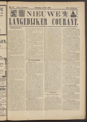 Nieuwe Langedijker Courant 1925-06-09