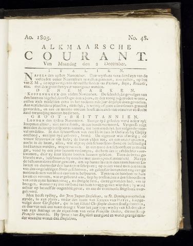 Alkmaarsche Courant 1805-12-02