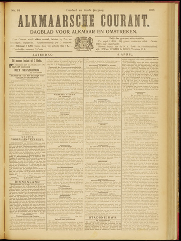 Alkmaarsche Courant 1908-04-18
