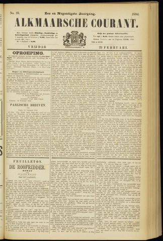 Alkmaarsche Courant 1894-02-23