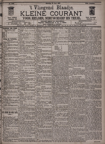 Vliegend blaadje : nieuws- en advertentiebode voor Den Helder 1897-06-19
